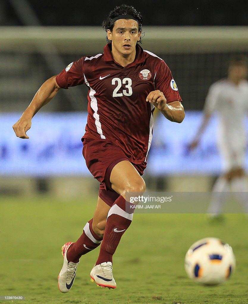 Qatar's Sebastian Soria controls the ball during their 2014 World Cup Asian zone qualifying football match against Iran at the AlSadd stadium in Doha...