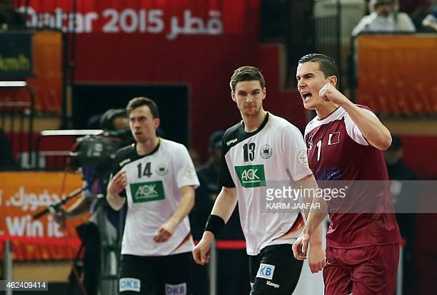 Qatar's Zarko Markovic celebra...