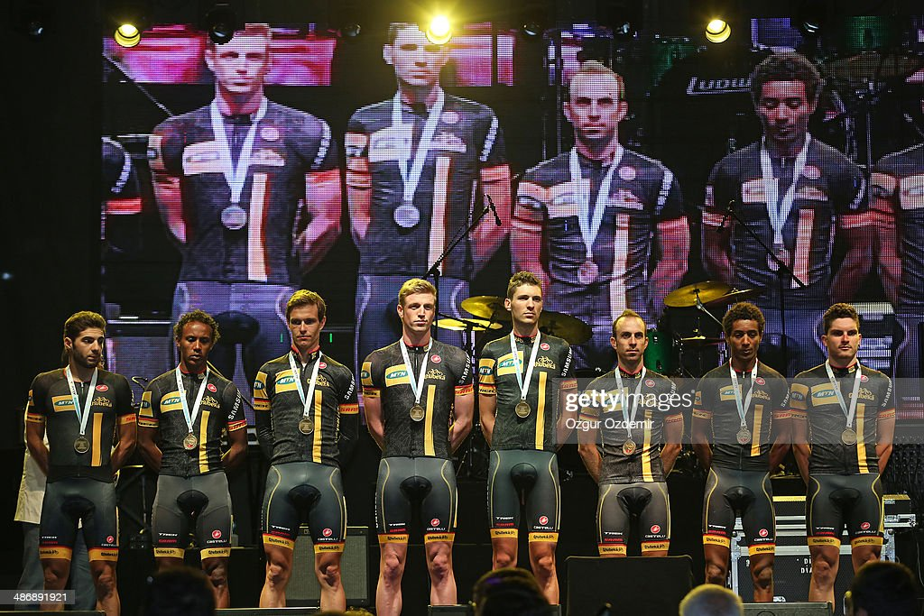 - MTN - Qhubeka attends the opening ceremony of the 50th Presidential Cycling Tour at Alanya in the Mediterranean resorty city April 26, 2014 in Antalya, Turkey. The Tour which will be held between April 27 and May 4 in Turkey.