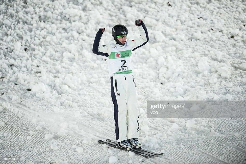 <a gi-track='captionPersonalityLinkClicked' href=/galleries/search?phrase=Qi+Guangpu&family=editorial&specificpeople=5644886 ng-click='$event.stopPropagation()'>Qi Guangpu</a> of China competes in the Freestyle Skiing Men's Aerials Finals on day one of the 2014-2015 FIS Freestyle Ski Aerials World Cup at Beijing National Stadium on December 20, 2014 in Beijing, China.