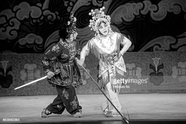 Qi Shu Fang Peking Opera Company presents 'The Legend of the White Snake' at the Kaye Playhouse on Saturday night October 7 2001 This image Bing Yang...
