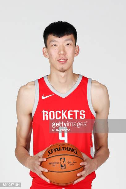 Qi Zhou of the Houston Rockets poses for a head shot during Media Day on September 25 2017 at Toyota Center in Houston Texas NOTE TO USER User...