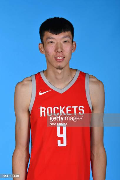 Qi Zhou#9 of the Houston Rockets poses for a head shot during Media Day on September 25 2017 at the Toyota Center in Houston Texas NOTE TO USER User...