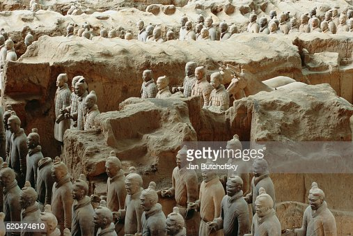 Detail Of Terracotta Statue In Qin Shi Huangdi Tomb Stock Photo