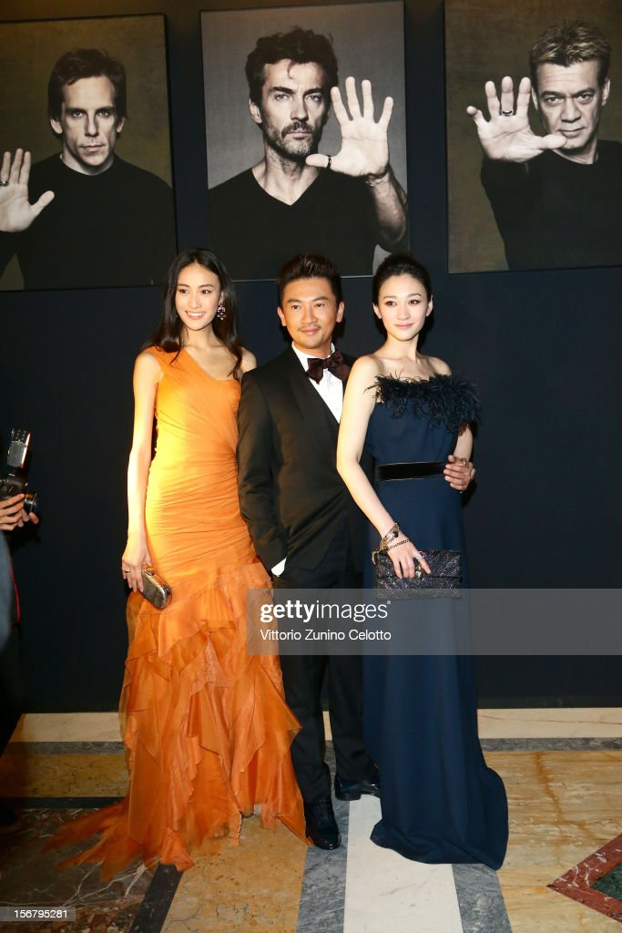 Qin ShuPei, Su You Peng, Li Xiaoran attend Bulgari 'Stop Think Give' exhibition preview and cocktail at Palazzo Pecci Blunt on November 15, 2012 in Rome, Italy.