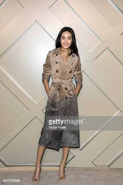 Qin Shupei wearing Burberry at the Art of the Trench event in Chengdu on October 17 2014 in Chengdu China