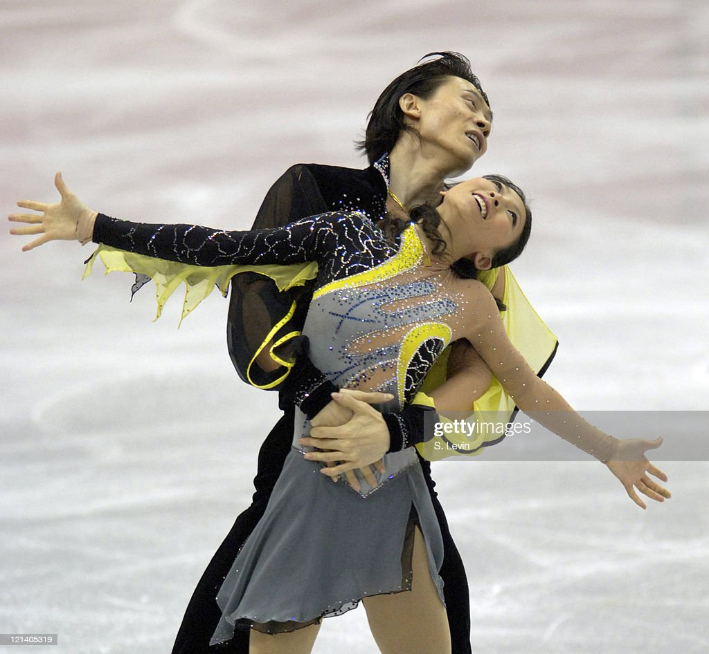 Qing Pang and Jian Tong compete in the Pairs Free Skate Program at the Palavela skating venue on February 13, 2006 in Torino, Italy.