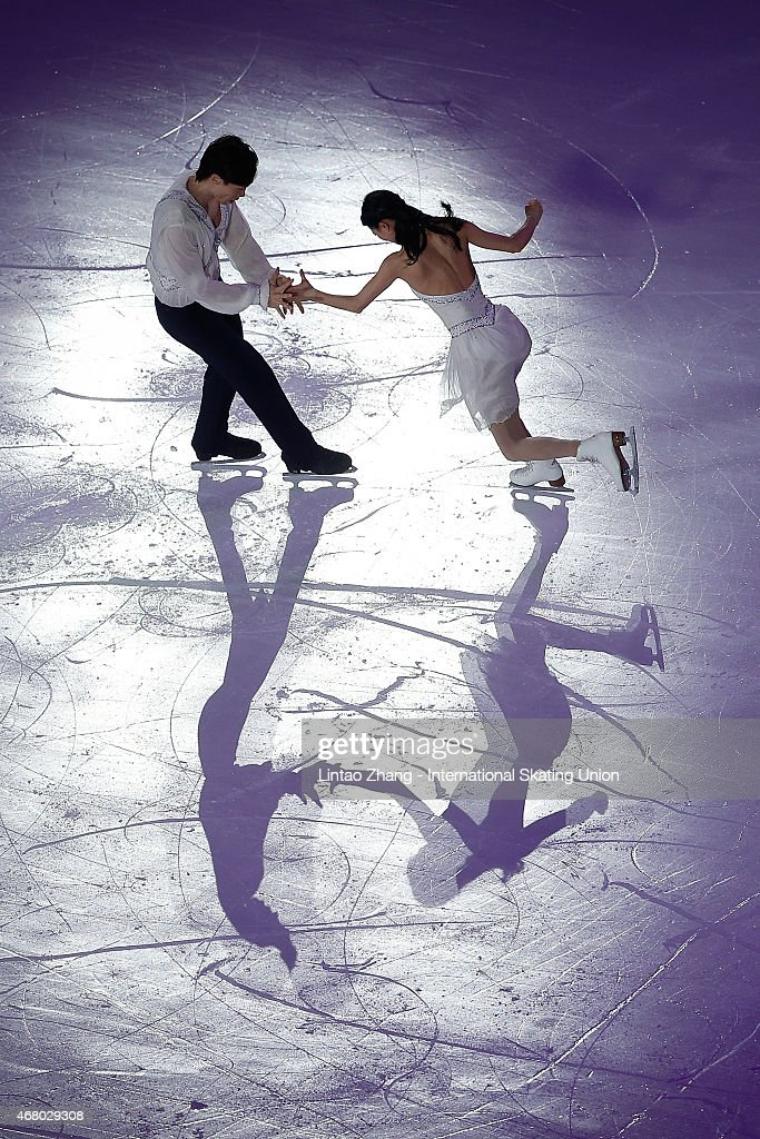 Qing Pang and Jian Tong of China perform during the Exhibition Program on day five of the 2015 ISU World Figure Skating Championships at Shanghai Oriental Sports Center on March 29, 2015 in Shanghai, China.