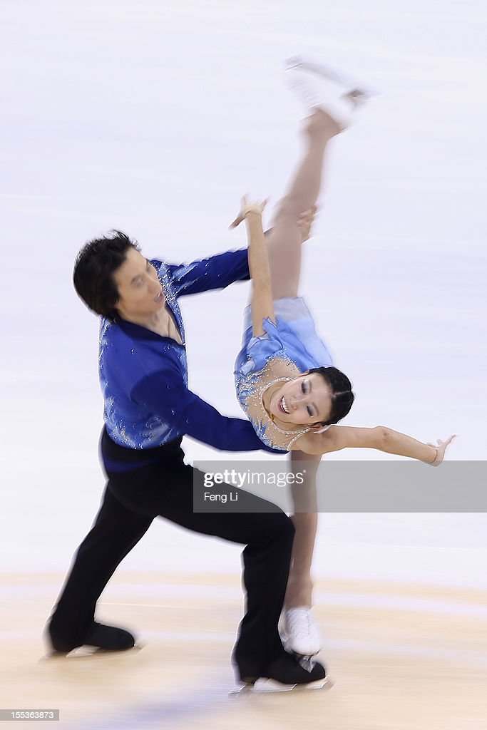 Qing Pang and Jian Tong of China skate in Pairs Free Skating during Cup of China ISU Grand Prix of Figure Skating 2012 at the Oriental Sports Center on November 3, 2012 in Shanghai, China.