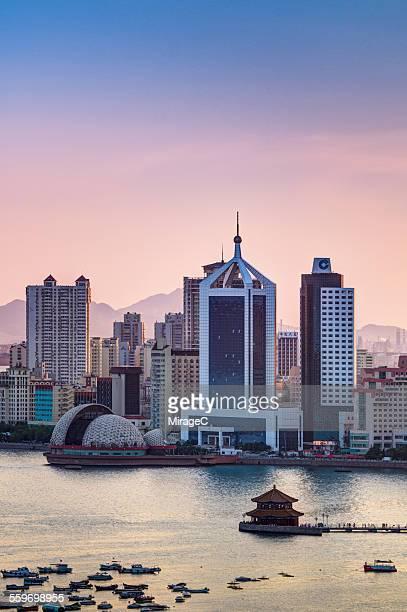 Qingdao Bay Sunset Scene