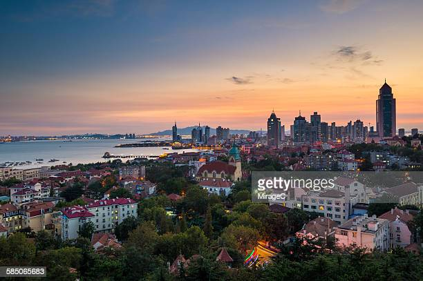 Qingdao City Colorful Dawn View