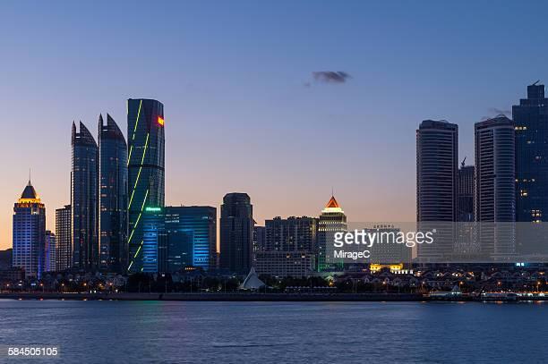 Qingdao Fushan Bay Cityscape Night View