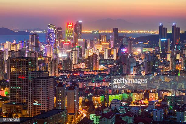Qingdao Fushan Bay Night Scenery
