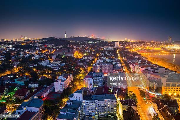 Qingdao West city night view