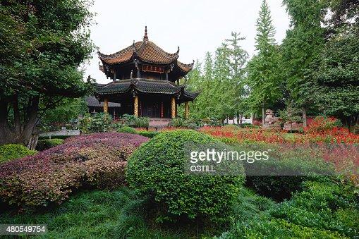 Qingyang Gong templo Chengdu Sichuan China : Foto de stock