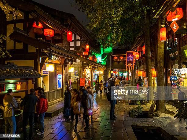 Qintai Road in Chengdu, China