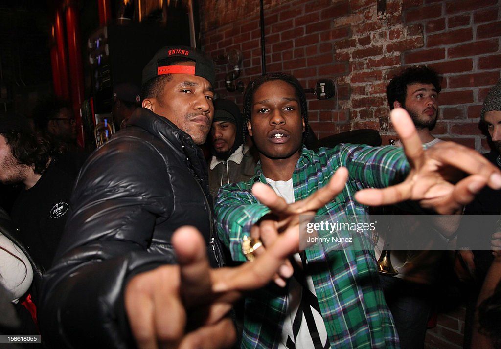 Q-Tip and A$AP Rocky attend Brooklyn Bowl on December 20, 2012, in New York City.