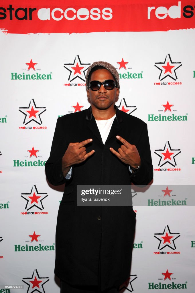 Tip attends Heineken Red Star Access Philadelphia featuring Nas Wale and QTip at The Electric Factory on October 13 2012 in Philadelphia Pennsylvania