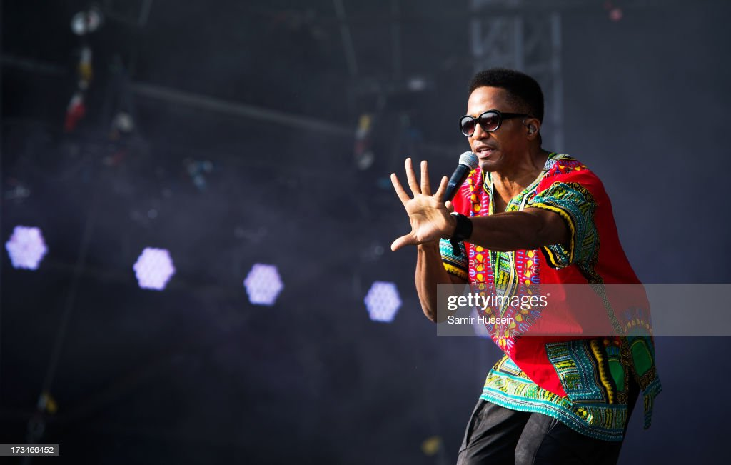 <a gi-track='captionPersonalityLinkClicked' href=/galleries/search?phrase=Q-Tip&family=editorial&specificpeople=215136 ng-click='$event.stopPropagation()'>Q-Tip</a> of A Tribe Called Quest performs on the main stage on day 3 of the Yahoo! Wireless Festival at Queen Elizabeth Olympic Park on July 14, 2013 in London, England.