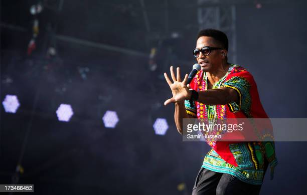 Tip of A Tribe Called Quest performs on the main stage on day 3 of the Yahoo Wireless Festival at Queen Elizabeth Olympic Park on July 14 2013 in...