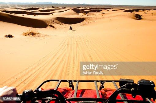 Quad Biking - Merzouga - Morocco : Stock Photo