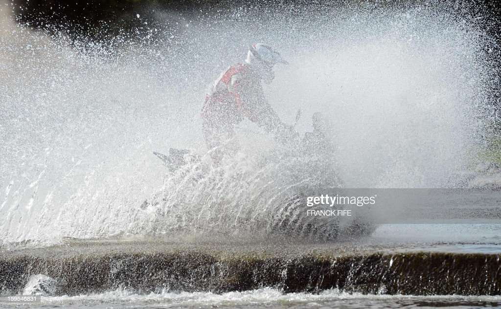 A quad competes during the Stage 10 of the Dakar 2013 between Cordoba and La Rioja, Argentina, on January 15, 2013. The rally takes place in Peru, Argentina and Chile between January 5 and 20.