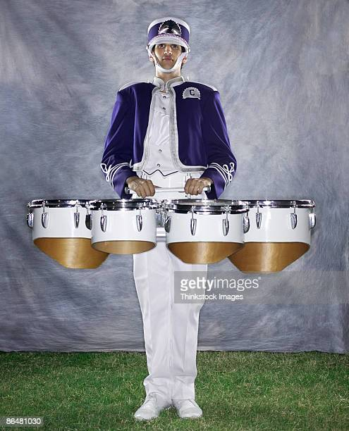 Quad drums player in marching band