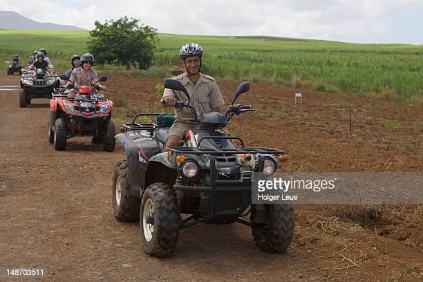 Quad tour through sugarcane fields at Domaine De Bel Ombre.