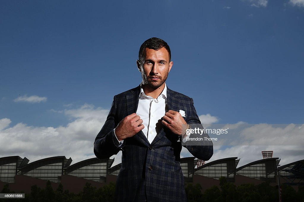 <a gi-track='captionPersonalityLinkClicked' href=/galleries/search?phrase=Quade+Cooper&family=editorial&specificpeople=4176008 ng-click='$event.stopPropagation()'>Quade Cooper</a> poses for a photograph following a press conference at Allphones Arena on December 19, 2014 in Sydney, Australia.