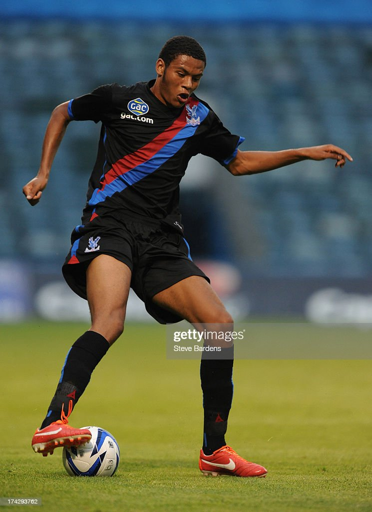 Quade Taylor of Crystal Palace in action during the pre season friendly match between Gillingham and Crystal Palace at Priestfield Stadium on July 23, 2013 in Gillingham, Medway.