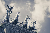Quadriga, the top of the brandenburg gate in Berlin