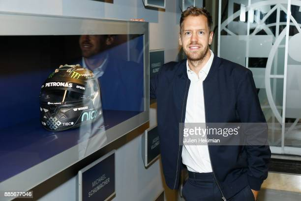 Quadruple World Champion Formula 1 Driver Sebastian Vettel attends the FIA Hall of Fame Induction ceremony at Automobile Club De France on December 4...