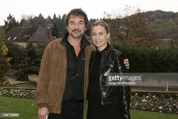 Quai Des Orfevres Press Conference In Sarlat On November 9 2004 In Sarlat France Olivier Marchal And His Wife Catherine