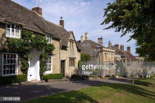 Quaint Cotswold cottages, Burford, Oxfordshire, UK