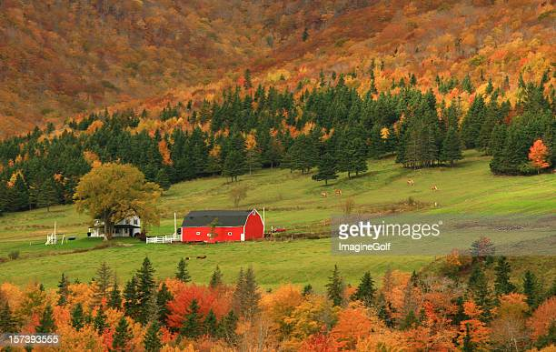 Quaint Farm in New England in Fall