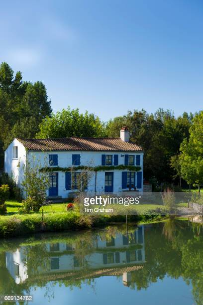 Quaint picturesque house by River La SevreNiortaise in Coulon in the Marais Poitrevin region Grand Site de France