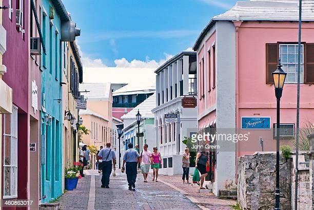 Quaint street and shops