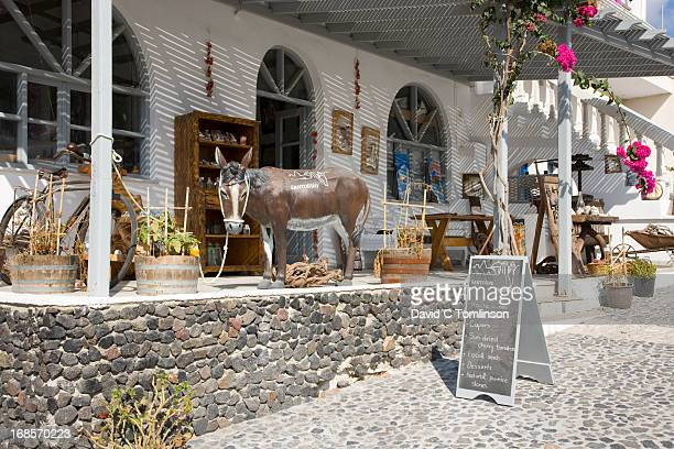 Quaint village store, Pyrgos, Santorini, Greece