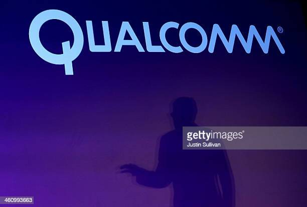 Qualcomm CEO Steve Mollenkopf speaks during a press event at the Mandalay Bay Convention Center for the 2014 International CES on January 6 2014 in...