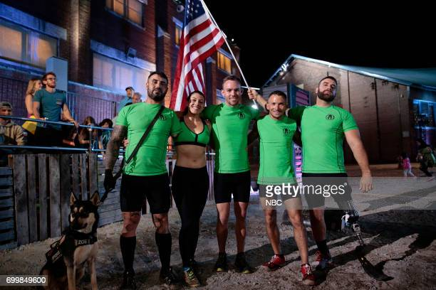 CHALLENGE 'Qualifiers Night 4' Episode 204 Pictured Jonathan Lopez Rachel Bartlett Brian Gowiski Scott Giltner Earl Granville of team 'Standing Proud'
