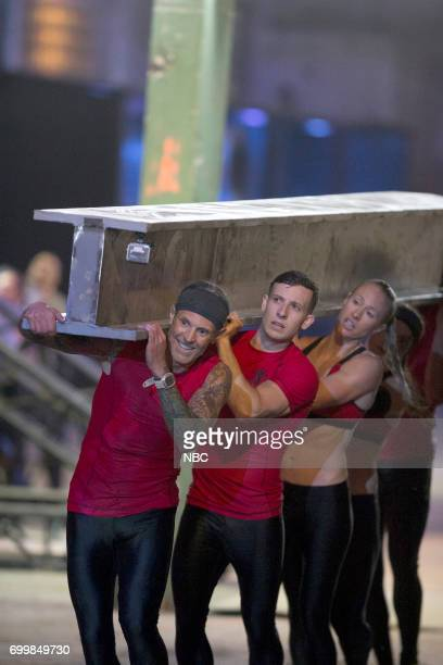 CHALLENGE 'Qualifiers Night 4' Episode 204 Pictured Kevin Gillotti Matthew Campione Lynnae Kettler of team 'The Comeback Kids'
