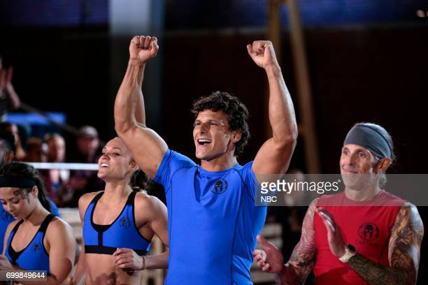 CHALLENGE 'Qualifiers Night 4' Episode 204 Pictured Sarah Harrison Amanda Tchir Mack Roesch of team 'Strike A Pose' Kevin Gillotti of team 'The...