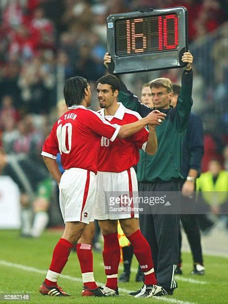Qualifikation 2003 Basel Schweiz Irland Auswechslung Hakan YAKIN durch Fabio CELESTINI