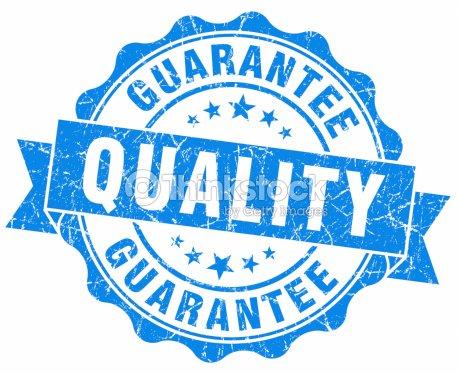 Quality Guarantee Blue Seal Stock Photo   Thinkstock