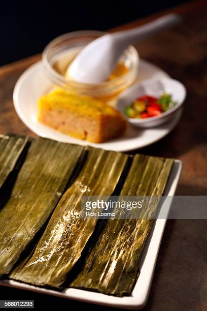Quan Vy Da restaurant in Westminster specializes in cuisine from the central Vietnam area Banh Nam Cha Tom rice cake with ground shrimp wrapped in...