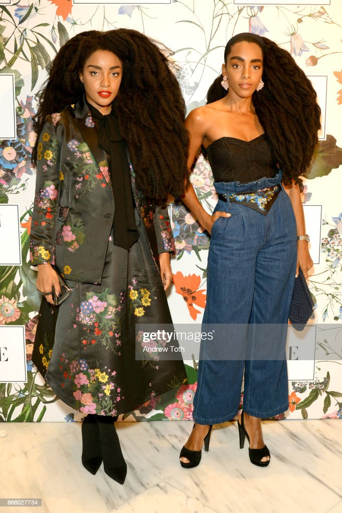 TK Quann and Cipriana Quann attend the ERDEM X H&M Exclusive Event at H&M Flagship Fifth Avenue Store on October 24, 2017 in New York City.
