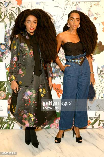 Quann and Cipriana Quann attend the ERDEM X HM Exclusive Event at HM Flagship Fifth Avenue Store on October 24 2017 in New York City