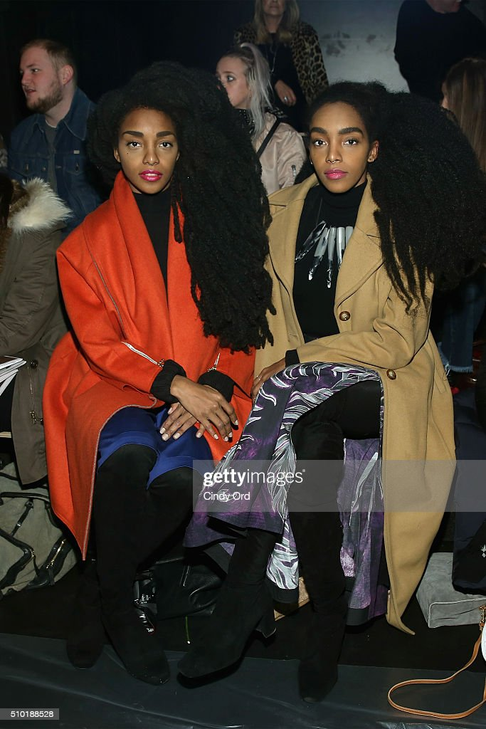 TK Quann (L) and Cipriana Quann attend the Tome Fall 2016 fashion show during New York Fashion Week: The Shows at The Dock, Skylight at Moynihan Station on February 14, 2016 in New York City.