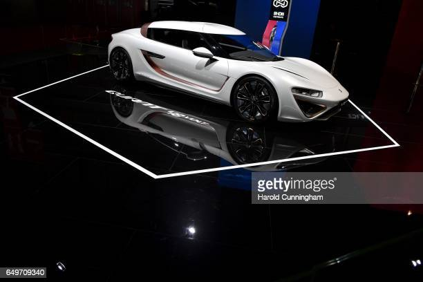 Quant 48Volt concept is seen during the 87th Geneva International Motor Show on March 8 2017 in Geneva Switzerland The International Motor Show...