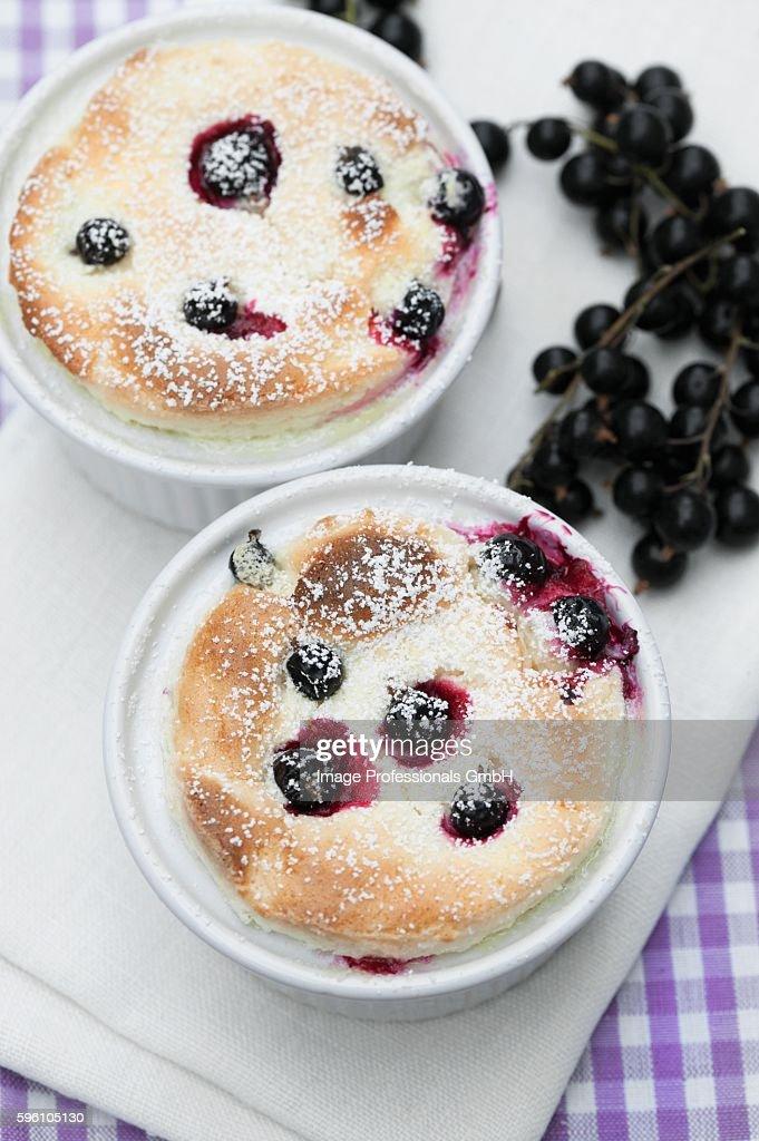 Quark soufflé with blackcurrants
